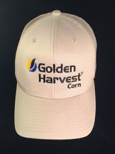 Vintage Golden Harvest Farmer/Trucker Hat, SnapBack Embroidered Mesh Tan