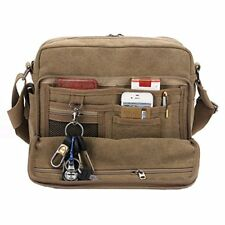 Classic Multifunctional Mens Canvas Messenger Bag Crossbody Working Field