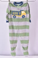 LOT OF 2 - Baby Boys Carter's Footed Fleece Pajamas, Dump Truck & Football