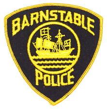 BARNSTABLE MASSACHUSETTS MA Sheriff Police Patch SAILING SHIP VINTAGE OLD MESH ~