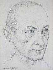 Marek RUDNICKI (1927-2004) Portrait de Jean Picart le Doux .Pologne Rubinstein