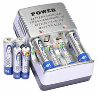 4x AA 4x AAA NiMH Ni-MH Rechargeable Battery + CHARGER