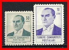 TURKEY 1961-1962 ATATURK HIGH VALUES SC# 1529-30 VF OG MLH CV$17.75 (E15)