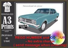 68-69 HK HOLDEN PREMIER A3 ORIGINAL PERSONALISED PRINT POSTER CLASSIC RETRO CAR