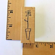 Savvy Rubber Stamp - Potted Tall Daisy - NEW