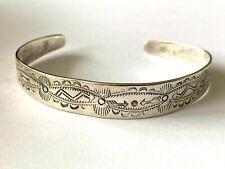 Fred Harvey Era Navajo Sterling 925 Stampwork Native American Ladies Bracelet