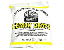 Claey's LEMON DROP Old Fashioned Hard Candy (2)  6 OZ BAGS - FRESH & BEST PRICE