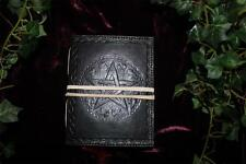 BLACK PENTACLE LEATHER BOUND JOURNAL/BOOK OF SHADOWS ~ HAND MADE PAPER