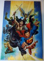 JUSTICE LEAGUE ~ #1 (2018) Virgin Variant Jim Cheung ~ VF/NM