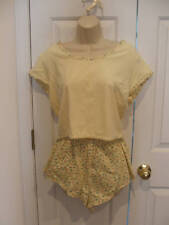 new in package frederick's of hollywood terry top & short set Made in USA MEDIUM