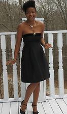Couture Designer Oscar de la Renta black fitted gown dress 4