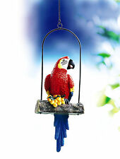 Papagei auf Schaukel Ara Dekofigur Deko aus Polyresin 32 cm Groß