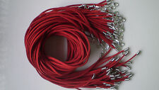 Wholesale Bulk lot 10 pcs red Suede Leather String 20 inch Necklace Cords