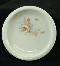 Very Old Bavarian Baby Dish with Angel and Birds