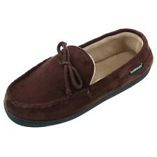New Isotoner Men's Microsuede Moccasin Slipper with Whipstitch