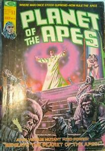 Stan Lee Presents Planet of the Apes #10 Apes Versus Mutant Mind-Power 1975