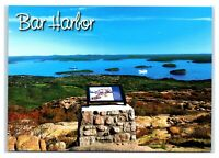 Postcard Bar Harbor from the Park Loop Road, Maine ME MS594A
