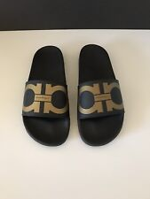 737012628ec7 Men s Salvatore Ferragamo Groove Slide Sandals Size 8M