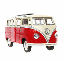 1/24 Diecast Collection Car Red Meizhie Volkswagen VW BUS T1 With Sound & Light