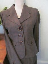 new next 40s fish tail  check skirt suit size 10-12