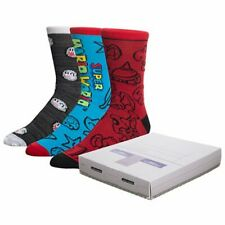 SUPER NINTENDO Nintendo Super Console Crew Sock 3-Pack Box Set in Console Box!