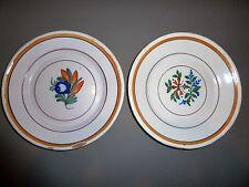 Ancien assiette faïence DE MARTRES AUVILLAR SUD-OUEST au pochoir 19E décor flora
