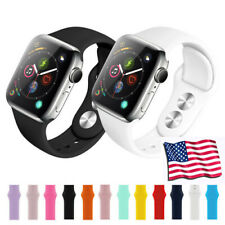 US STOCK For Apple Watch Series 5-2  Silica gel iWatch Strap Band Wristband