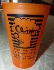 WRIGLEY SIDE BAR USED PLASTIC DRINK PENCIL CUP 3527 N CLARK WRIGLEY Chicago CUBS