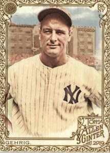 2019 Allen and Ginter Gold #4 Lou Gehrig New York Yankees  BX 50A