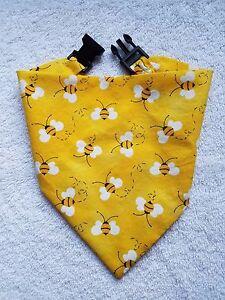 BANDANA Buckle Dog Bandana Dog Bandanna Bee Yellow Summer