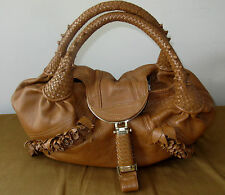 Fendi Authentic Tan Brown Leather Spy bag