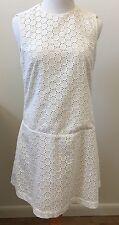 By Malene Birger Ivory Cotton Sleeveless Eyelet Lace Dress Size 38