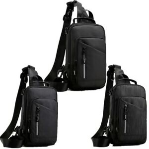 Men Small Chest Bag Sling Backpack Sport Cross Body Bag Shoulder Sling Backpack