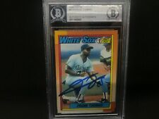 Frank Thomas Chicago White Sox SIGNED 1990 TOPPS BECKETT CERTIFIED ROOKIE 1