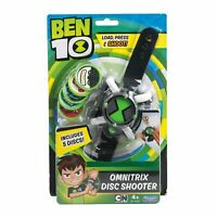 BEN 10 Omnitrix DISC SHOOTER WATCH Action Toy with 5 Discs Playmates NEU