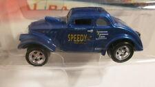 "2002 Johnny Lightning Willys Gassers II  1933 Willys  blue ""Speedy 2"""