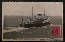 1936 Ostend Belgium Picture Postcard Cover The Mail Ship Prince Baudouin