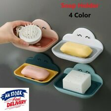 Cartoon Clouds Soap Holder Wall Mounted Double Layer Drain Soap Tray Soap Dish
