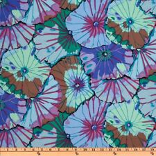 Fat Quarter Kaffe Fassett: Lotus Leaf - BLUE - Rowan Cotton Quilting Fabrics