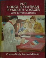 1979 Dodge Sportsman Van Plymouth Voyager Service Manual