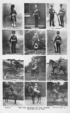 POSTCARD  MILITARY   SOLDIERS  of  The  KING