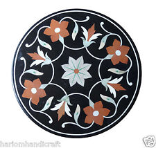 2'x2' Marble Side Coffee Table Top Carnelian Pietradure Mosaic Home Decor H1295
