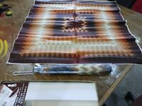 """Vintage Matching Umbrella and Scarf Gift Set water repellent 27"""" square scarf"""
