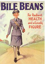 Reproduction Vintage Advertising Postcard : Bile Beans