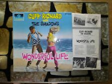 CLIFF RICHARD AND THE SHADOWS - WONDERFUL LIFE  -  LP - COLUMBIA  BLUE / BLACK