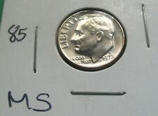 1972-D ROOSEVELT DIME, MS CONDITION FROM A MINT SET. HIGH GRADE. (85)