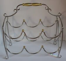 Southern Living At Home Abingdon wine rack gold /brass and stainless steel 41012