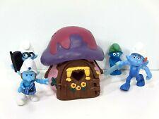 Smurfs House Cottage Purple Roof 1978 Schleich Peyo Mushroom 49014 Vintage