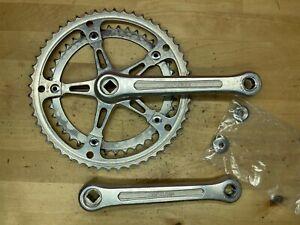 """Suntour Superbe Crank 170mm Length 9/16"""" Road Bike 52/42t w/ dustcaps"""