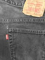 vtg usa made LEVI'S 505 fit red tab jeans 36 x 32 faded distressed black